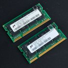 Micron 2GB kit 2x 1GB DDR 266 PC2100 DDR266 Sodimm 266Mhz Notebook Laptop Memory