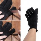 Black Cut-Resistant Anti Cut Tearing Knife Protect Safety Gloves Working Gloves
