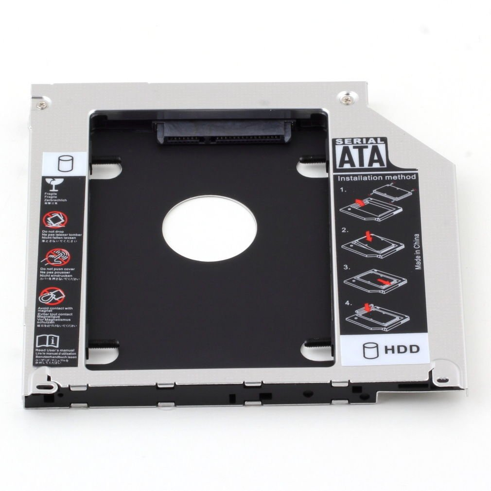 """2nd 9.5mm SATA HDD SSD Hard Drive Caddy Bay for MacBook Pro 13"""" 15"""" 17"""""""