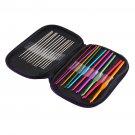 22pcs Multicolour Aluminum Crochet Hook Knitting Needle Set Weave Craft Yarn