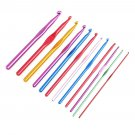 12pcs 2-8mm Multicolour Aluminum Crochet Hook Knitting Needle Set kit