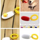 Dog Pet Click Clicker Training Obedience Agility Trainer Aid Wrist Strap (color white