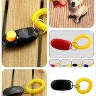 Dog Pet Click Clicker Training Obedience Agility Trainer Aid Wrist Strap (color black