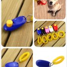 Dog Pet Click Clicker Training Obedience Agility Trainer Aid Wrist Strap (color blue