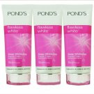 3 NEW Pond's Flawless White Deep Whitening Lightening Facial Foam Cleanser 100g