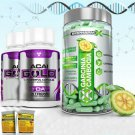 PURE GARCINIA CAMBOGIA + 2 ACAI GOLD DIET + DETOX PILLS  Supply:1 Month +