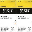 2 X  120ml SELSUN ANTI DANDRUFF TREATMENT SHAMPOO SELENIUM SULFIDE TINEA VERSICOLOR