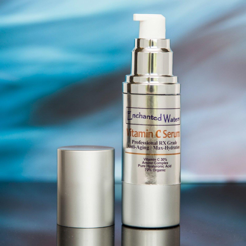 VITAMIN C 30% + E & HYALURONIC ACID 100% Anti Aging Serum, FERULIC ACID, MSM Reverse Sun Damage