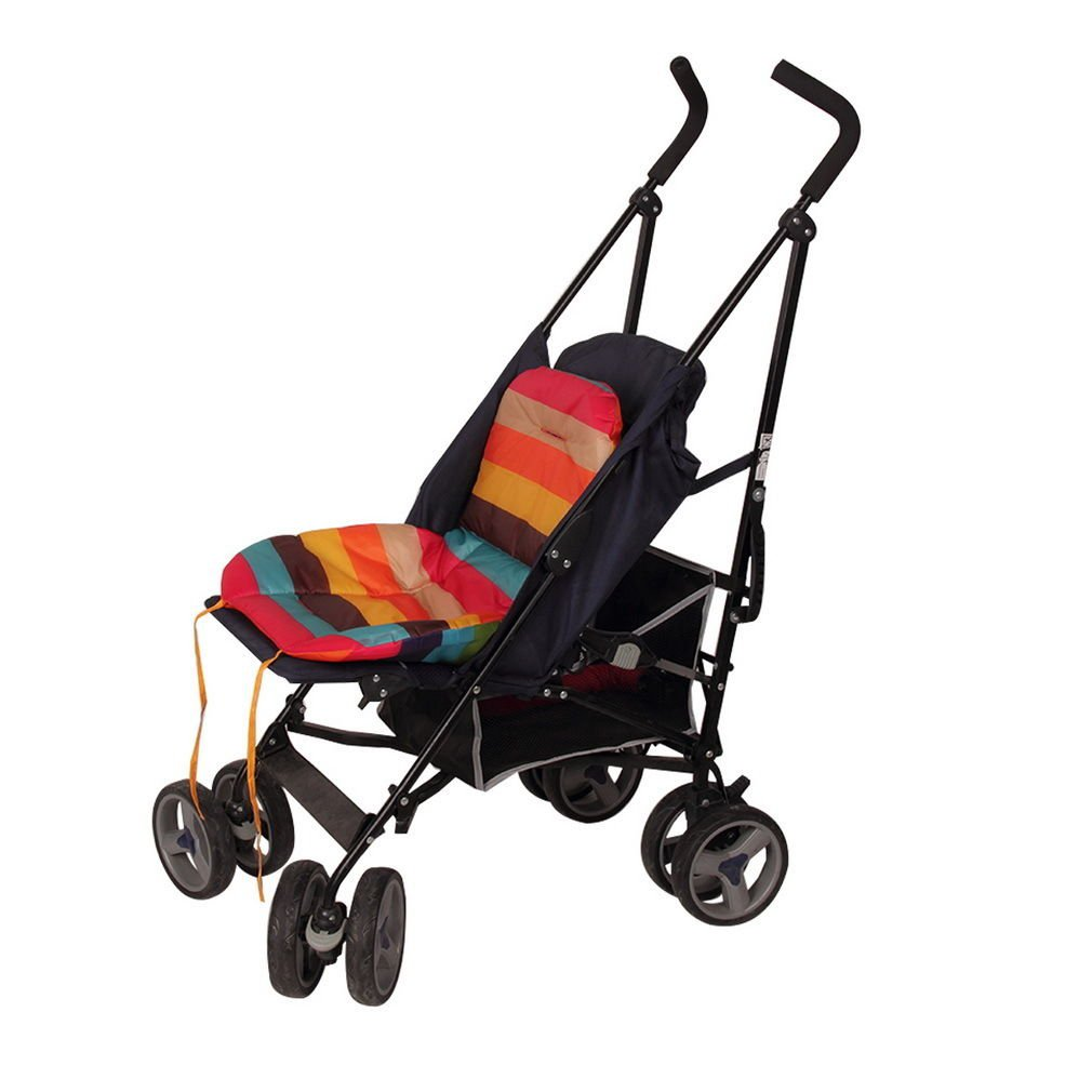 New Car Seat Pad Waterproof Padding Pram Rainbow Baby Kids Stroller Cushion