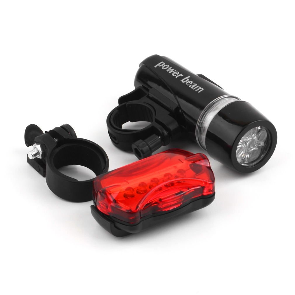 5 Water Resistant LED Bike Bicycle Head Light Rear Safety Flashlight