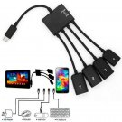 4 Port Micro Usb Power Charging Otg Hub Cable For Android Samsung Galaxy