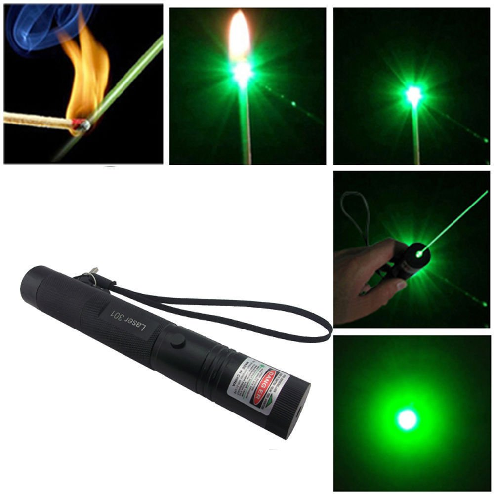 Adjustable Focus Military Green Laser Pointer Pen 5mw 532nm Zoomable