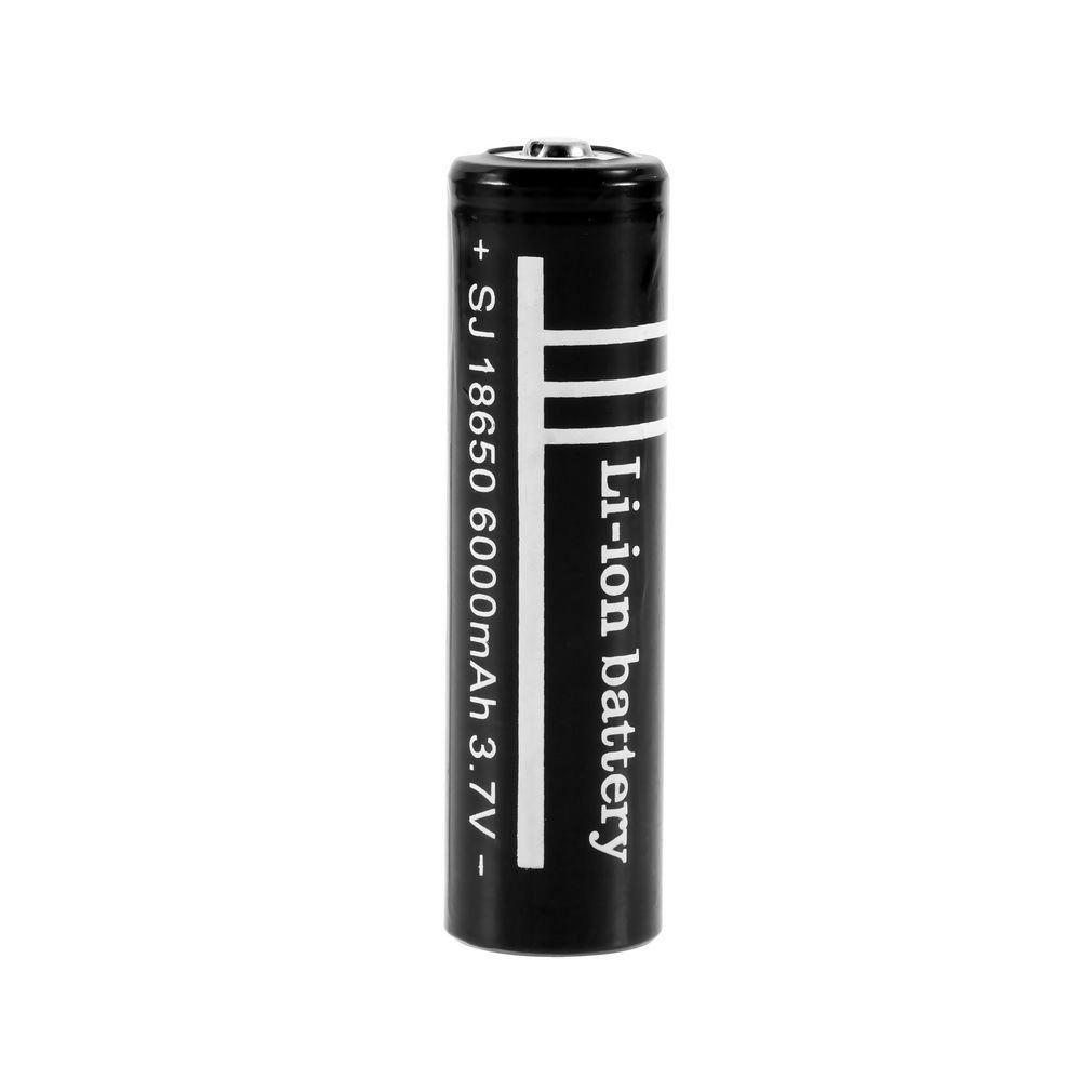 3.7V 6000mAh 18650 Li-ion Rechargeable Battery for Flashlight