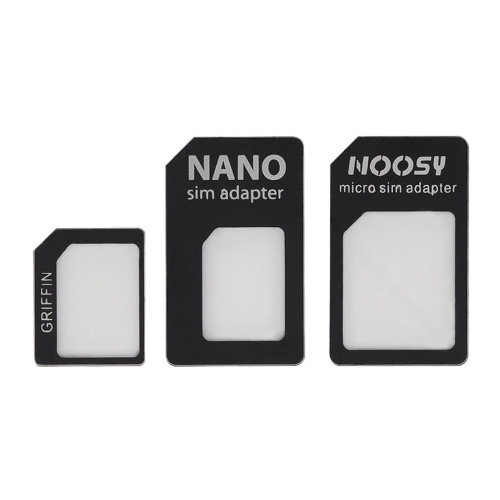 3 in 1 Nano SIM to Micro Standard SIM MICROSIM Adaptor Adapter for iPhone5
