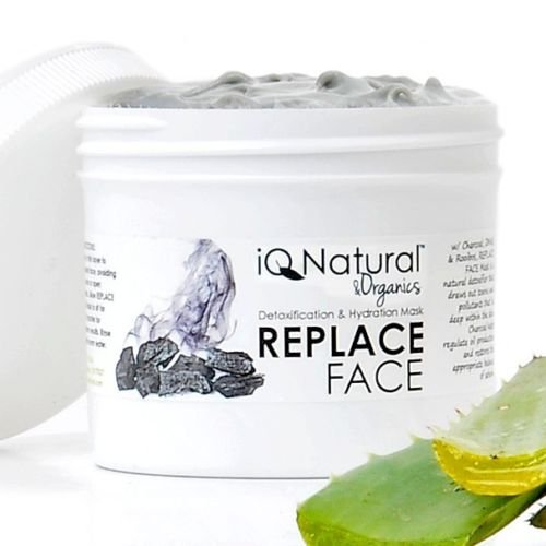 Spa Facial Mask Replace Hydration Detox Hyaluronic Acid Charcoal ACNE BLEMISH  (2oz)