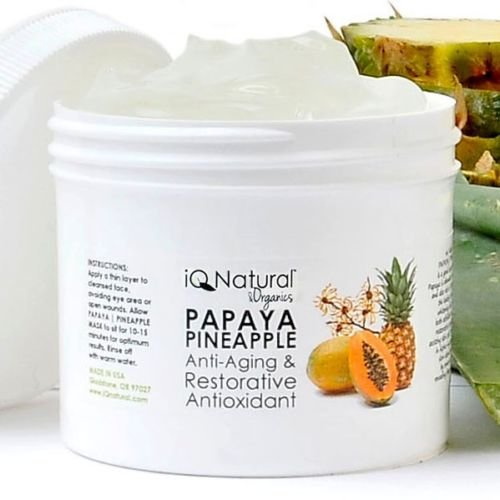 Papaya Pineapple Skin Lightening Brightening Facial Exfoliate Mask Anti Aging