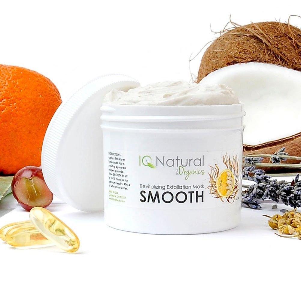 Organic Nourishing EXFOLIATING Anti Aging Collagen FACIAL MASK Spirulina Vit C (2oz)