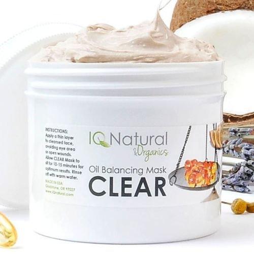 CLEAR Acne Blemish Clarifying Facial Mask with Salycilic Acid MSM Vitamin C(2oz)