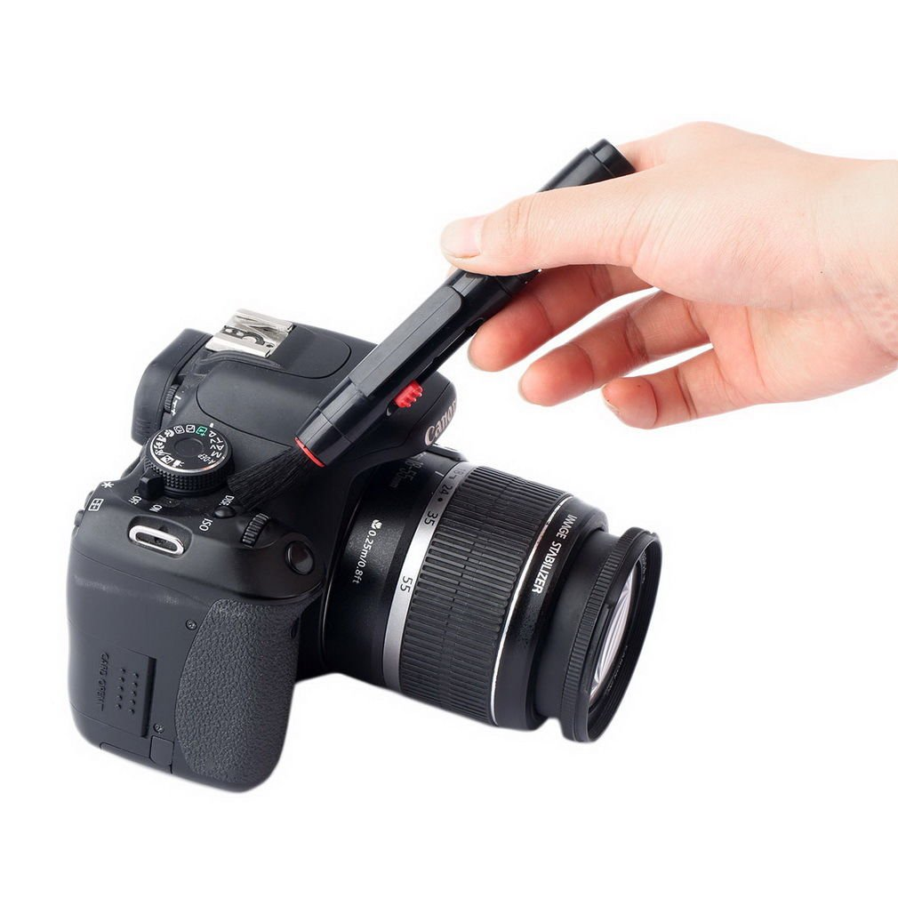 3-in-1 Lens Clean Pen Brush Dust Cleaner Dust Wiper Kit for Camera