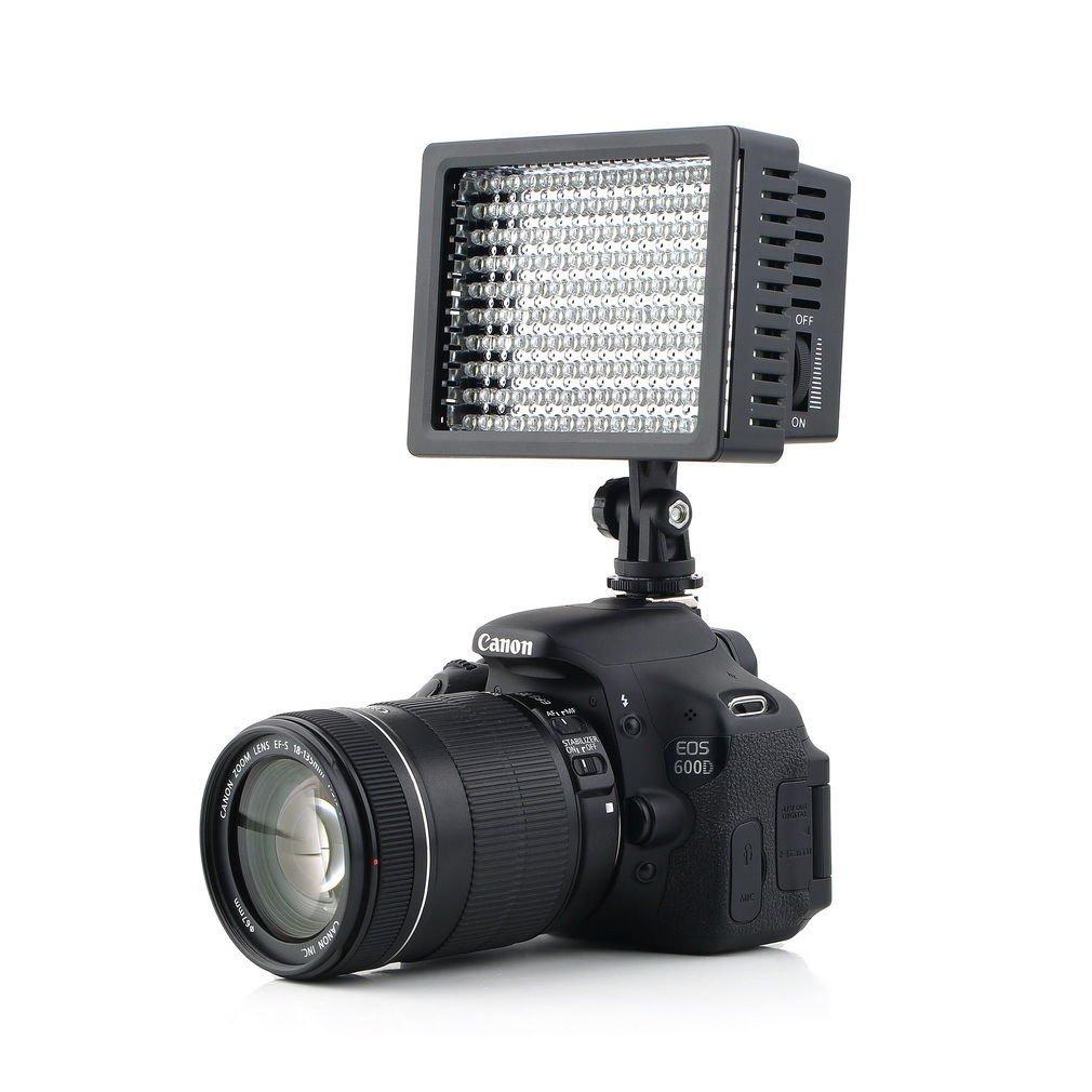 160 LED Studio Video Light For Canon Nikon Camera DV Camcorder Photography