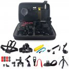 Head Chest Monopod Pole Mount Case Kit Bundle Accessories For GoPro Camera