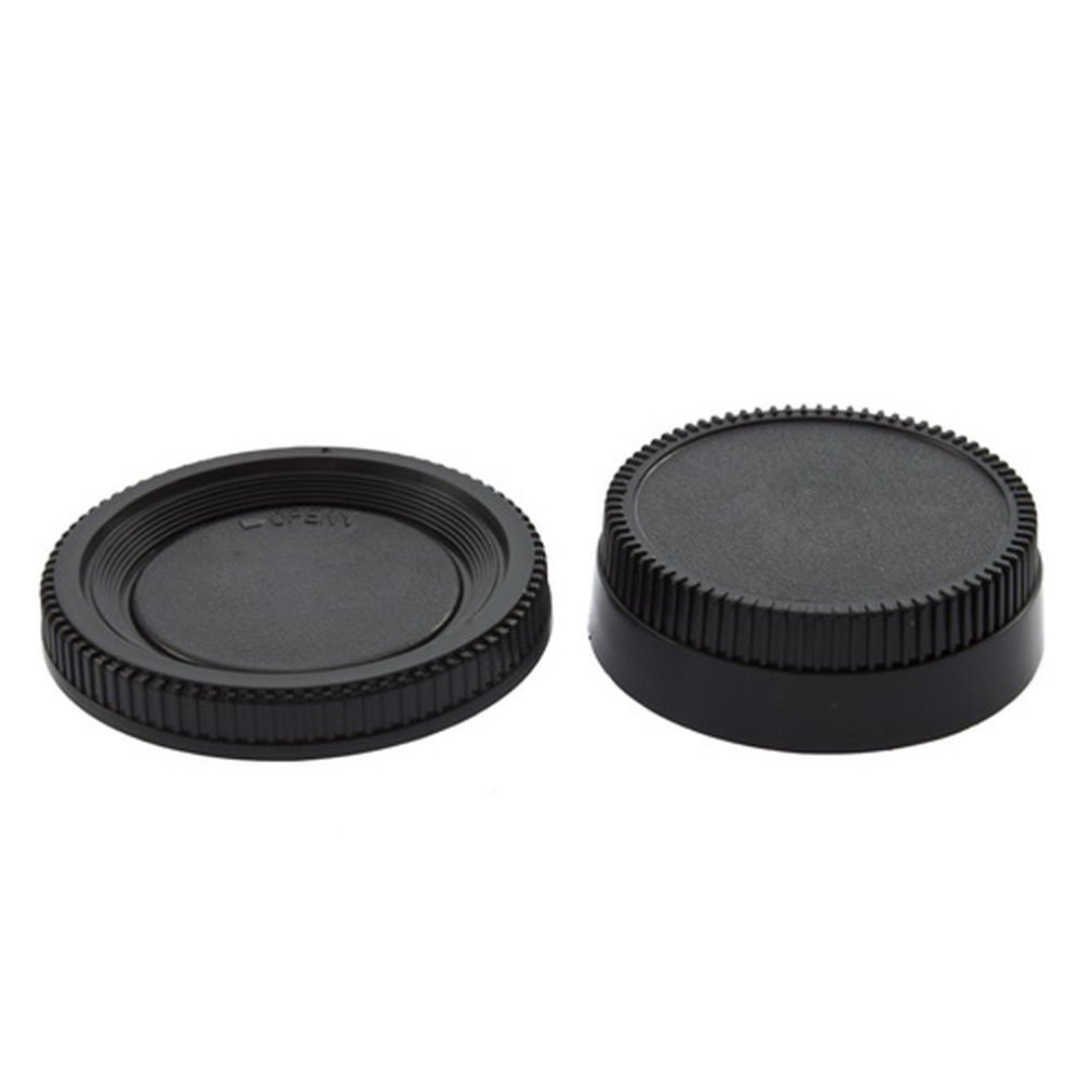 Black Body Cap + Rear Lens Cover for Nikon NIKON DSLR