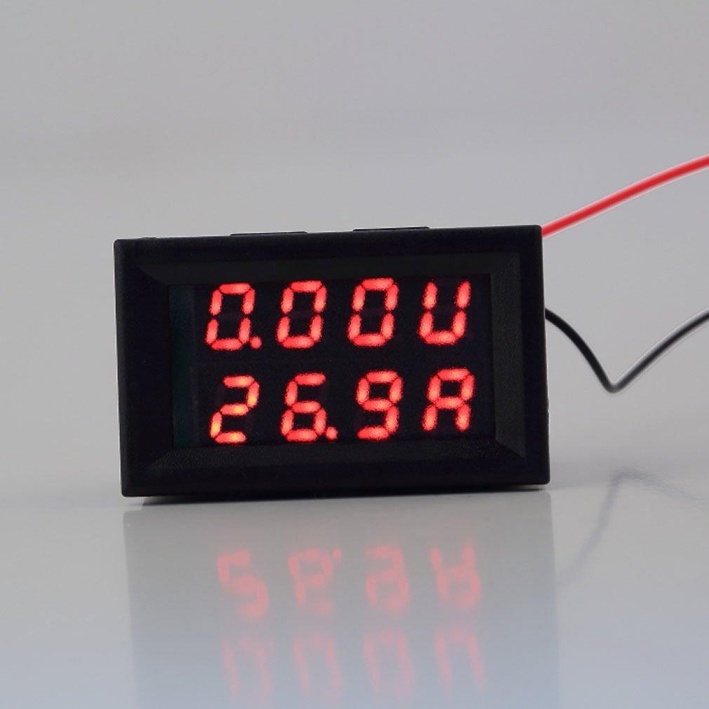 DC 4.5-30V 0-50A Dual LED Digital Volt meter Ammeter Voltage AMP Power ES9P