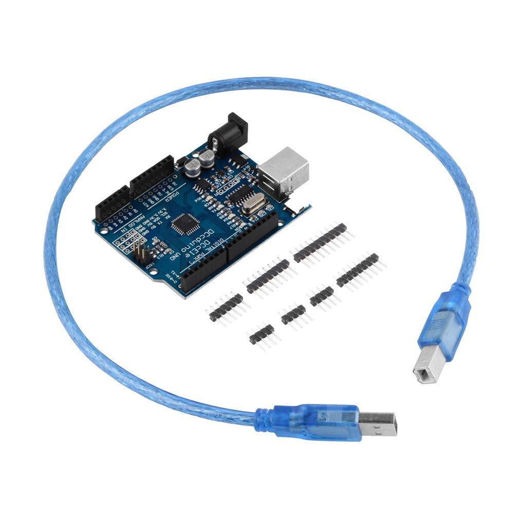ATmega328P CH340G UNO R3 Board & USB Cable +7 Gilded Pin for Arduino