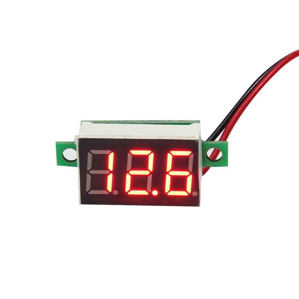 Mini Red LED Panel Voltage Meter 3-Digital Adjustment Voltmeter