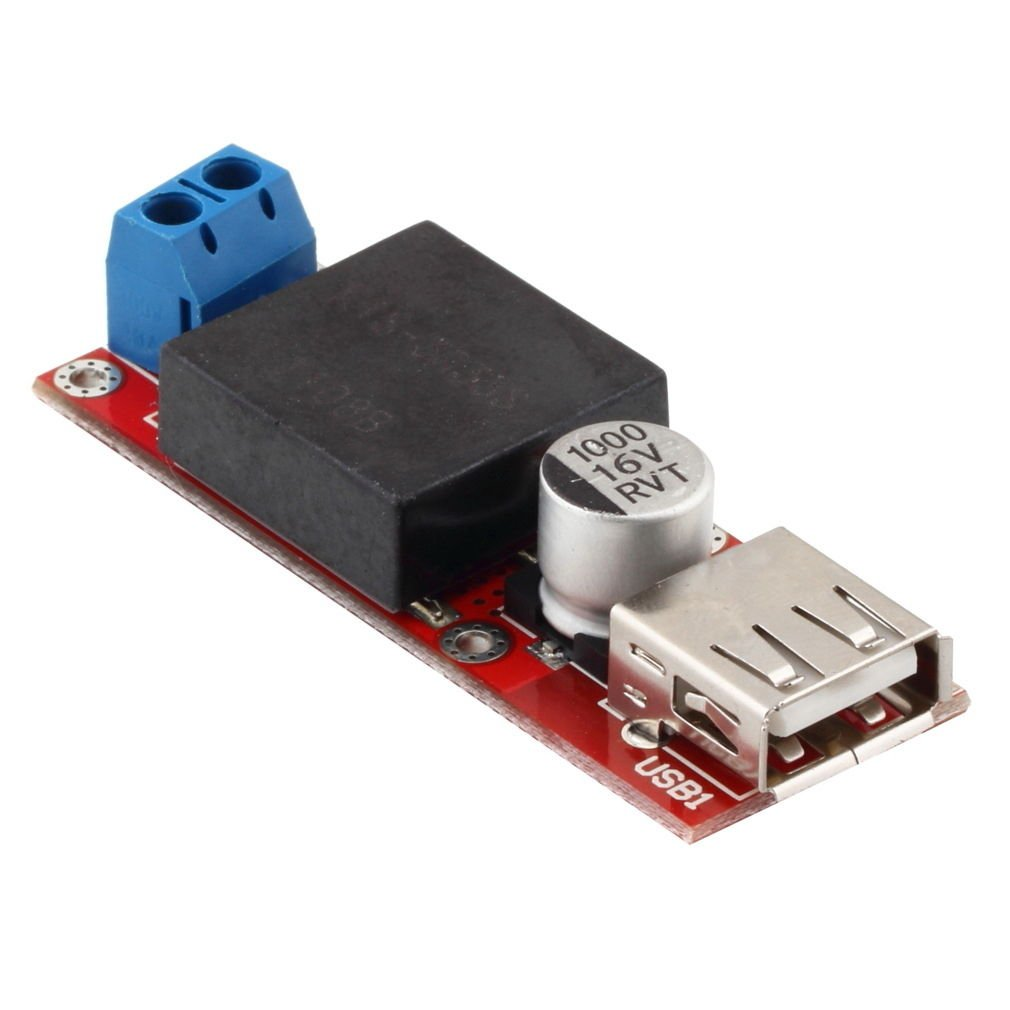5V USB DC 7V-24V to 5V 3A Step Down Buck KIS3R33S Module For Arduino LM2596