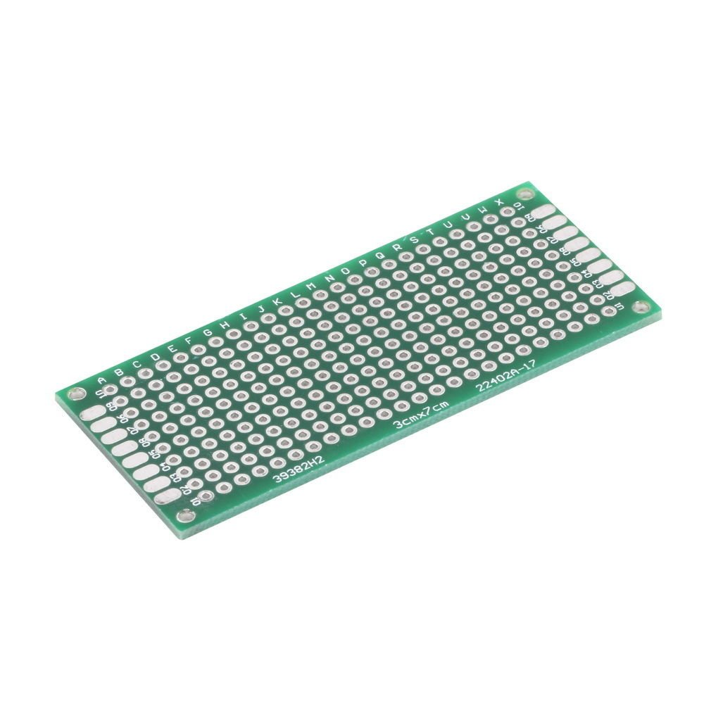 Double Side Prototype PCB Tinned Universal Breadboard 3x7cm 30mmx70mm