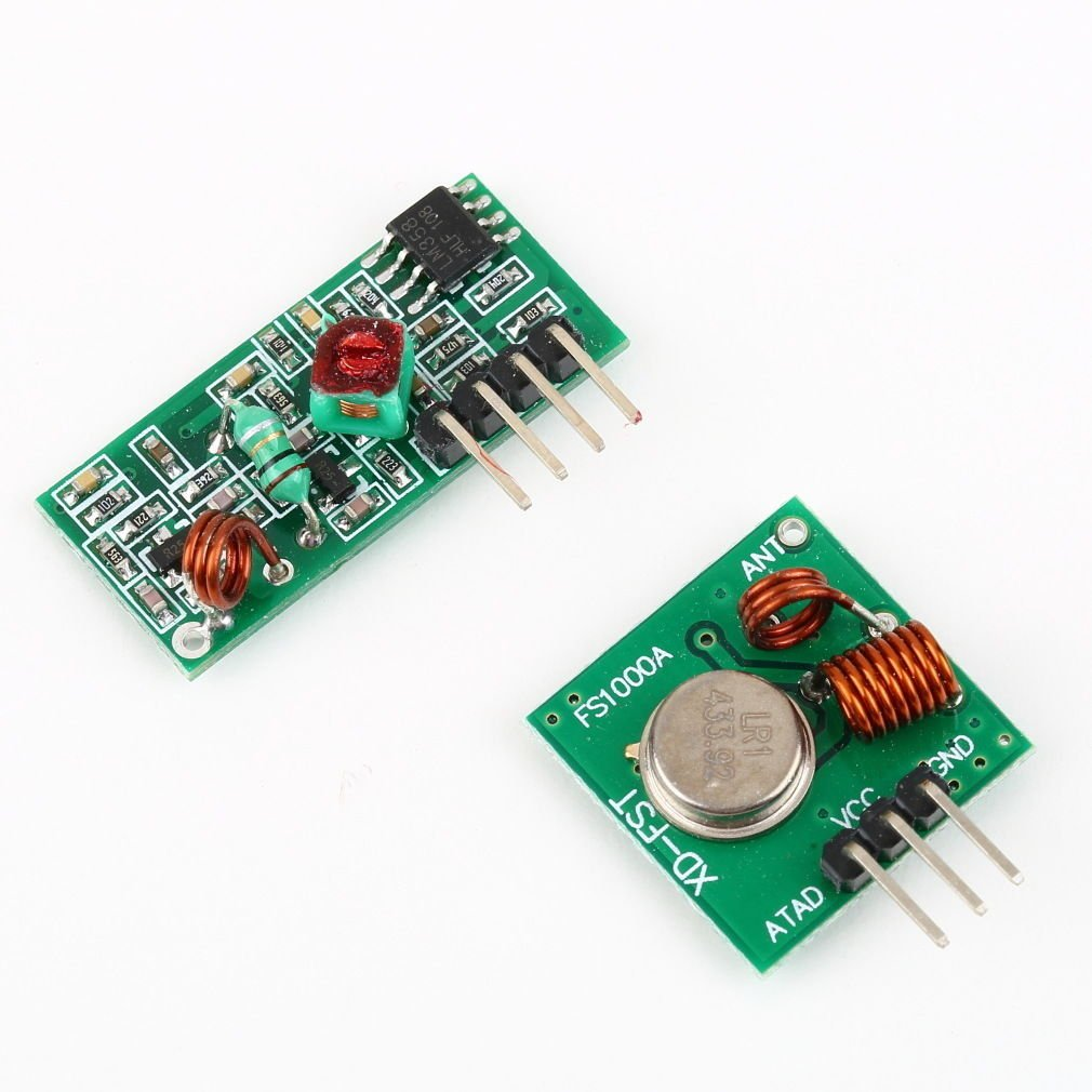 RF transmitter and receiver link kit for Arduino/ARM/MC?U remote control