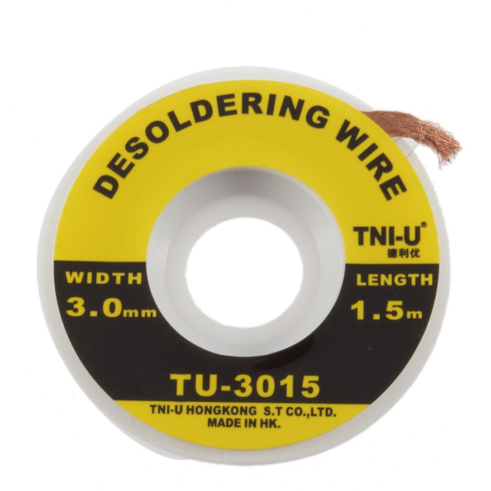 Security 5 ft. 3 mm Desoldering Braid Solder Remover Wick TNI-U TU - 3015