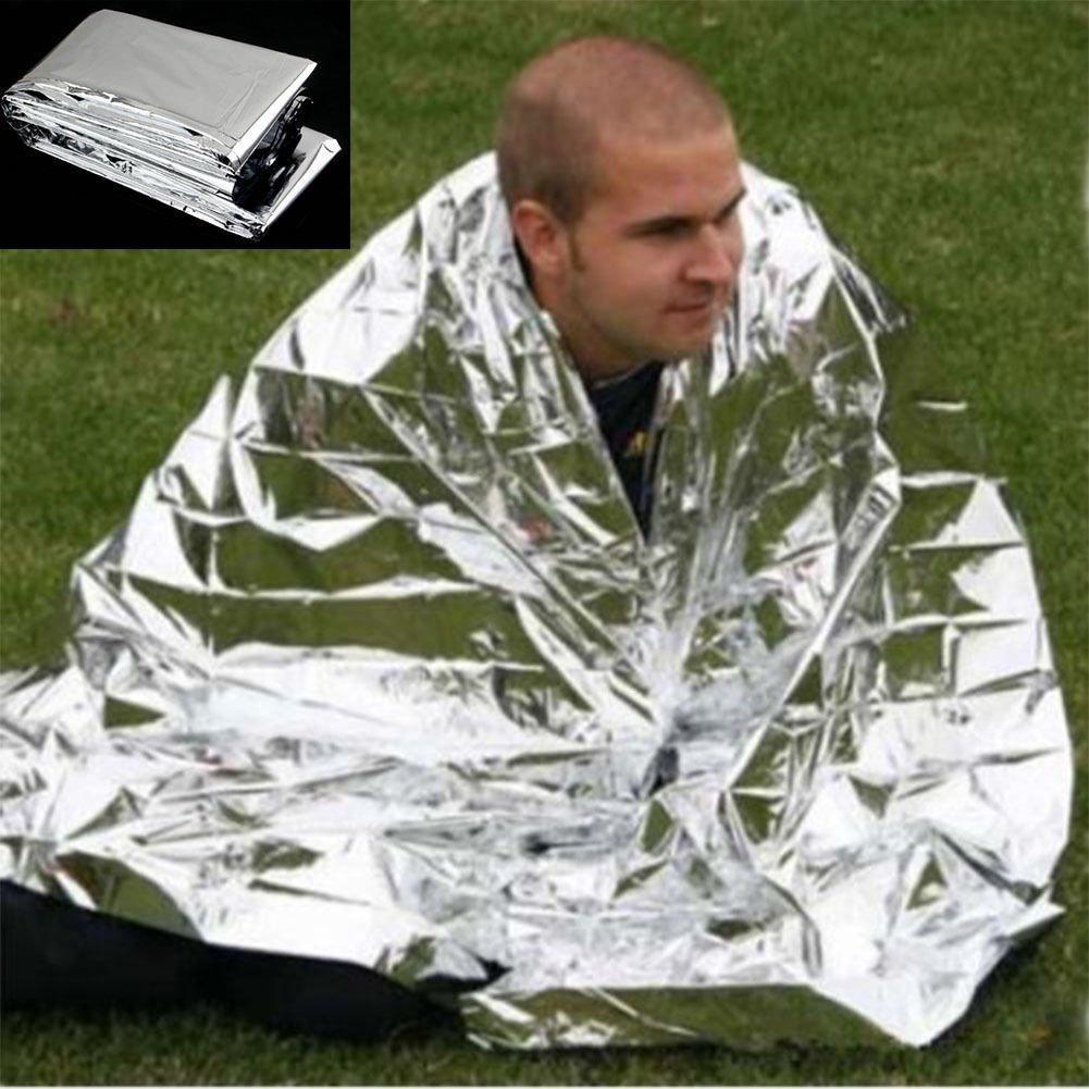 1 Outdoor Waterproof Emergency Survival Foil Thermal First Aid Rescue Blanket