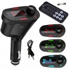 Top MP3 Player Wireless FM Transmitter Modulator Car Kit USB SD LCD Remote Blue       JY6