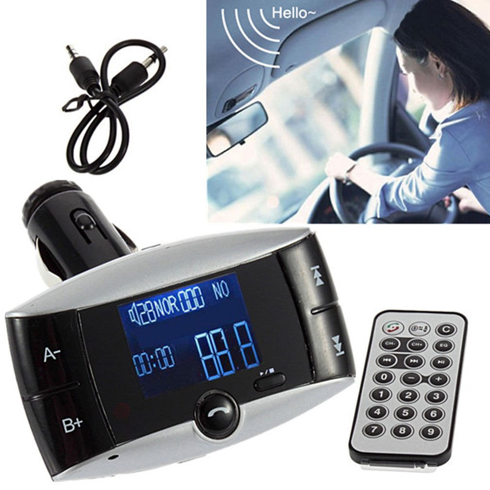 Bluetooth Car Kit MP3 Player FM Transmitter Hands Free Phone SD/USB + Remote            MN4