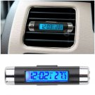 Car LCD Clip-on Digital Backlight Automotive Thermometer Clock Calendar                  WT5