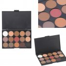 15 Colors Cosmetic Warm Matte Shimmer Eyeshadow Palette Professional         PMU5