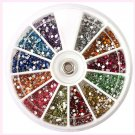 1.5mm 3600pcs Nail Art 3D DIY Rhinestones For UV Gel Acrylic Decoration        GGT6