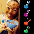 Homemade 4in1 Makeup Beauty DIY Facial Face Mask Bowl Brush Spoon Stick Tool Set          GGT6