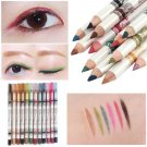 12 Colors Glitter Lip liner Eye Shadow Eyeliner Pencil Pen Makeup Sets           GGT6