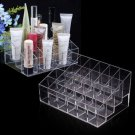 24 Trapezoid Clear Makeup Display Lipstick Stand Case Cosmetic Organizer Hold         GGT6