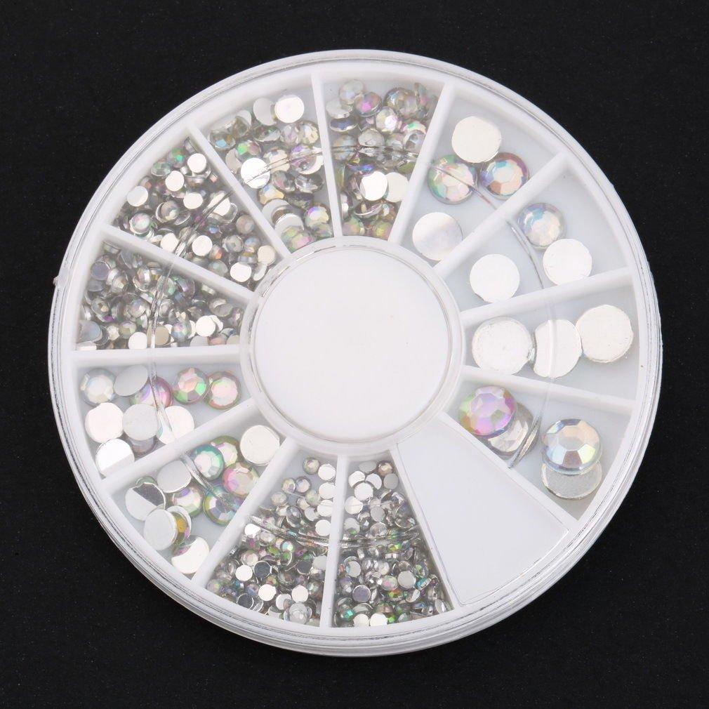 300Pcs 3D Rhinestones Glitter Diamond Gems Tips DIY Nail Art Decoration              BV6
