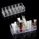 Makeup Cosmetics 12Lipstick Acrylic Organizer Stand Display Holder Storage Rack           KL4
