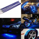 5x 30cm Waterproof 15 LED Blue Flexible Car Grill Strip Light Lamp Bulb Strips               HH6