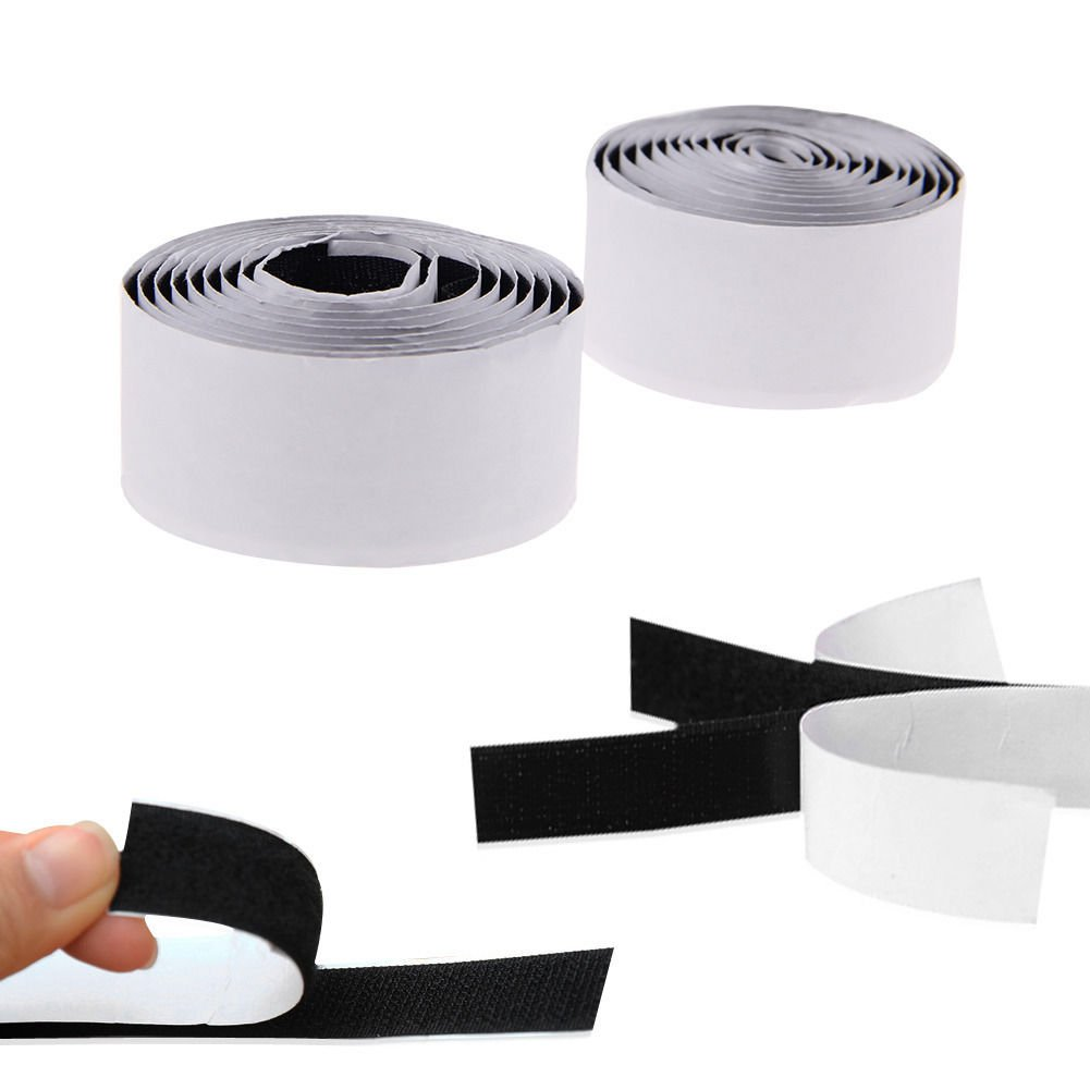 3ft 2 Rolls Strong Self Adhesive Velcro Roll Hook Loop Adhesive Tape
