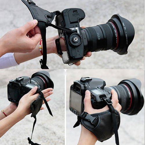 Leather Camera Wrist Strap Hand Grips for Canon Sony Olympus Nikon GoPro DSLR            KL8