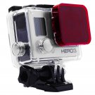 Red Color Under Sea Diving Filter Underwater Lens Filter For GoPro HD Hero 3           KL8