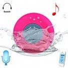 BTS - 06 Bluetooth Water Resistant Shower Speaker with Sucker  -  RED/pink NA0075603