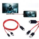 "MHL Micro USB HDMI HDTV AV TV Adapter Cable For Samsung Galaxy Tab 4 SM-T531 10""           SA3"